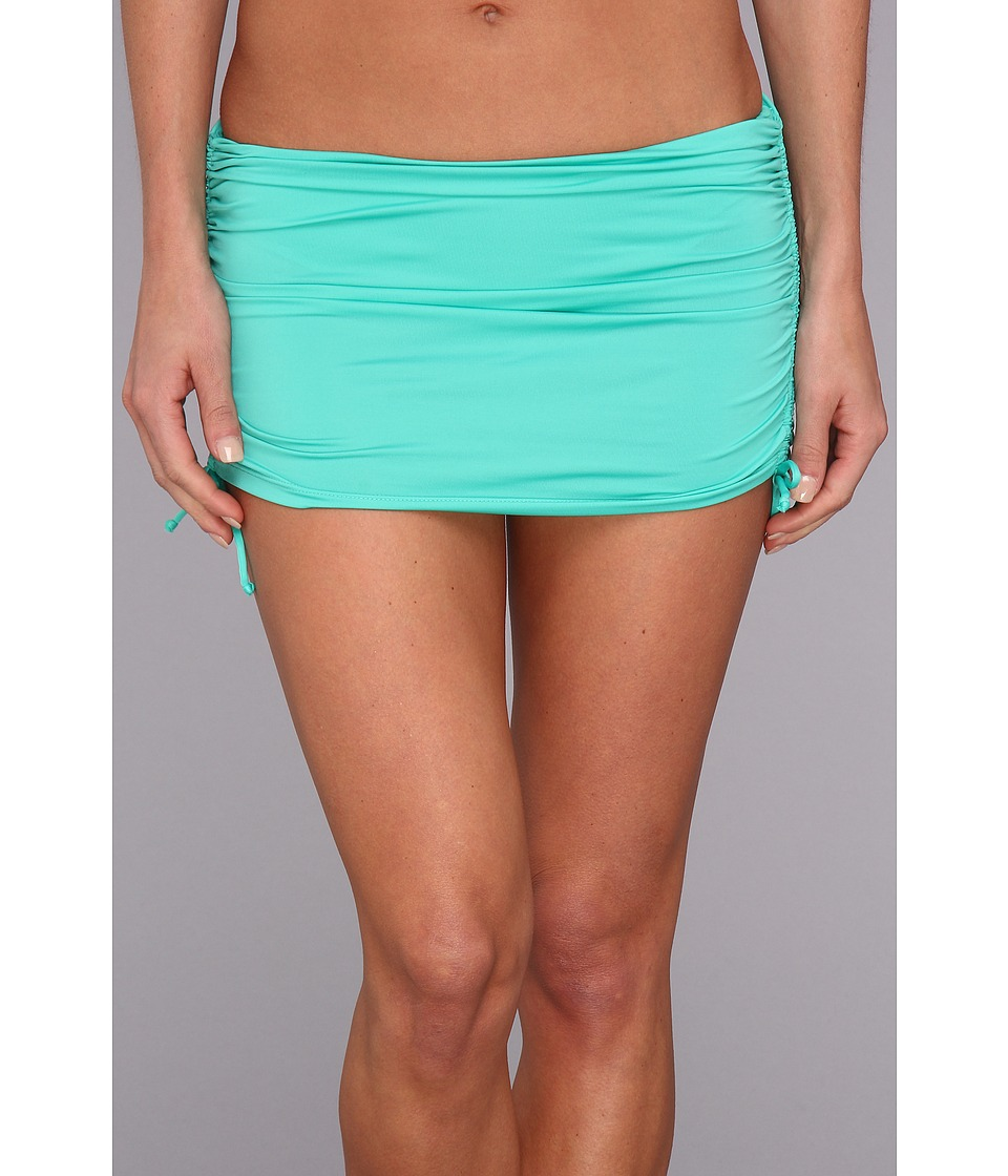 Badgley Mischka - Solids Shirred Skirt (Mint) Women's Swimwear