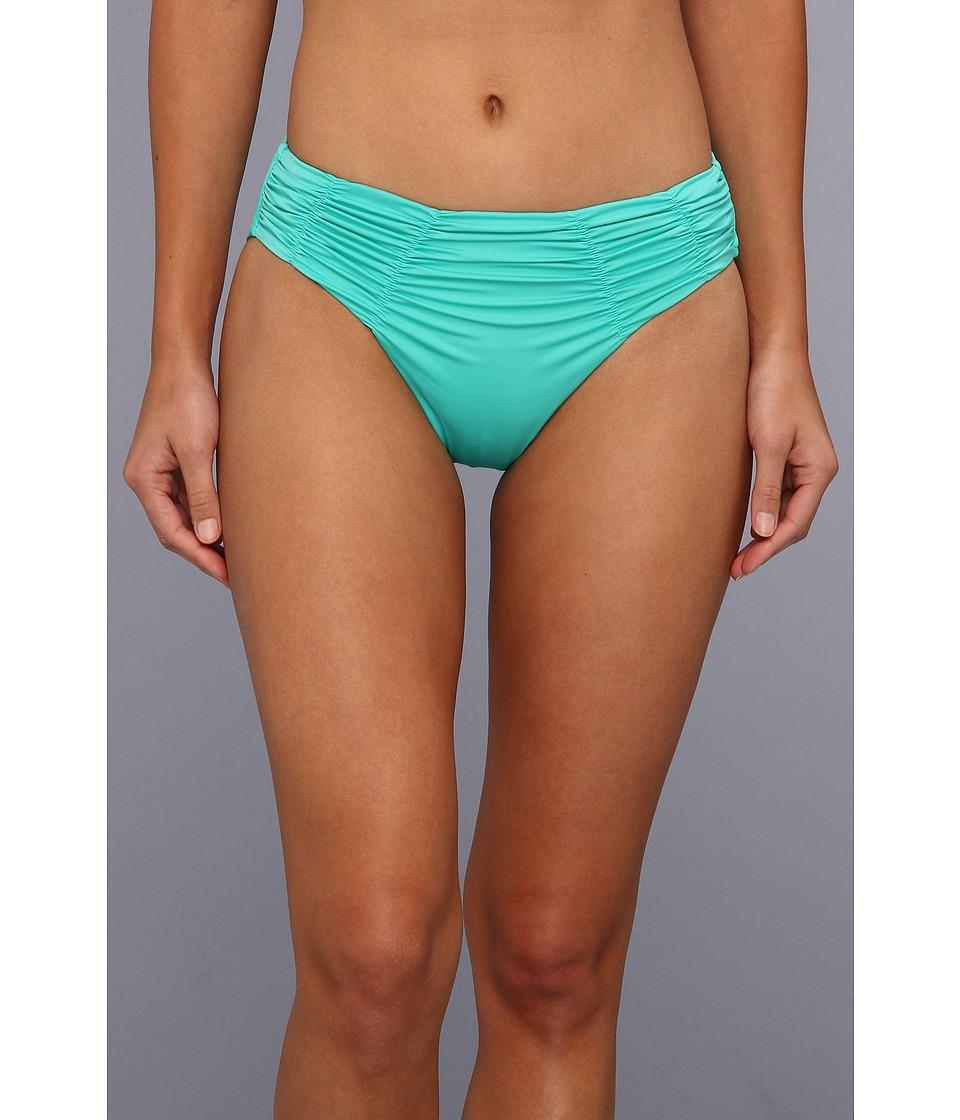 Badgley Mischka - Solids Pin Stitch Shirred Brief (Mint) Women's Swimwear
