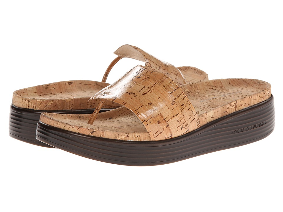 Donald J Pliner - Fifi (Natural Patent Cork) Women's Sandals