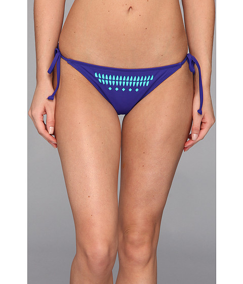 Hurley - One Only Solids Tie Side Bottom (Blue) Women