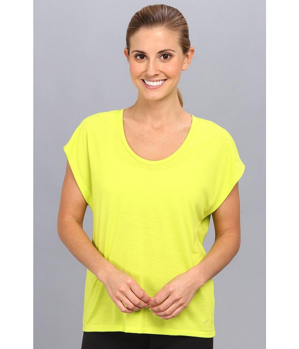 Nike - Club Boxy Tee (Venom Green/Venom Green) Women's Short Sleeve Pullover