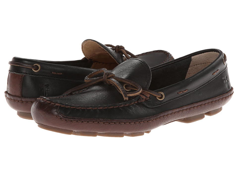 Frye - Harbor Tie (Black Wyoming) Men's Slip on Shoes