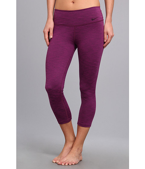 Nike - Legend 2.0 Tight Poly Capri (Bright Grape/Black/Black) Women's Capri