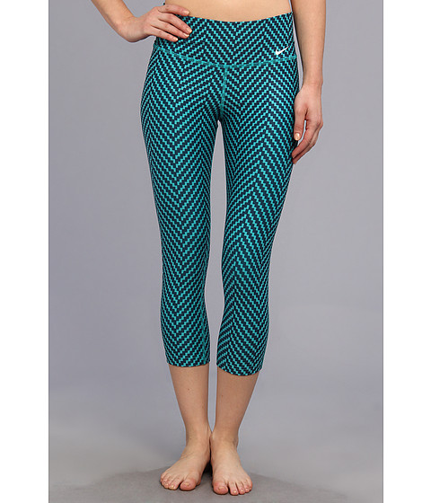Nike - Legend 2.0 Zig Zag Capri (Turbo Green/Obsidian/White) Women