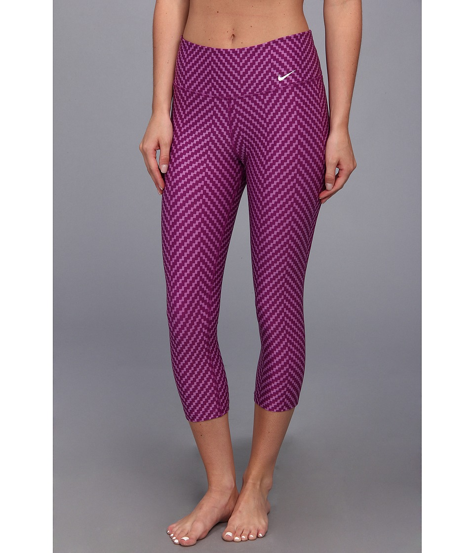 Nike - Legend 2.0 Zig Zag Capri (Bright Grape/Violet Shade/White) Women's Capri