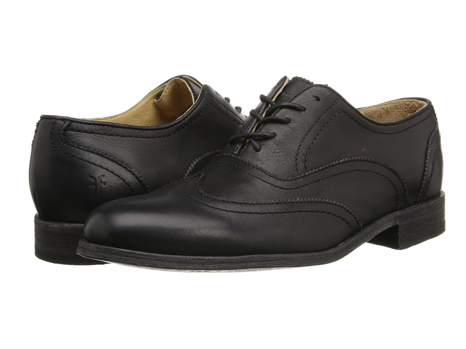 Frye - Harvey Wingtip (Black Soft Vintage Leather) Men's Lace Up Wing Tip Shoes