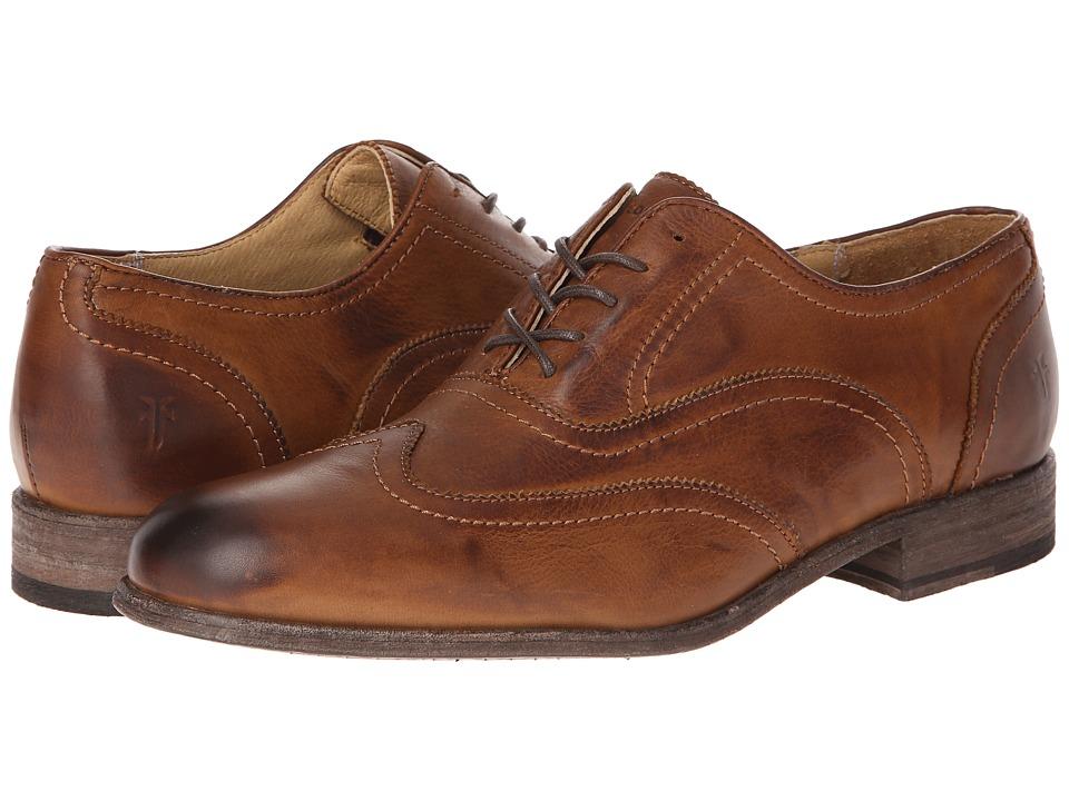 Frye - Harvey Wingtip (Cognac Soft Vintage Leather) Men's Lace Up Wing Tip Shoes