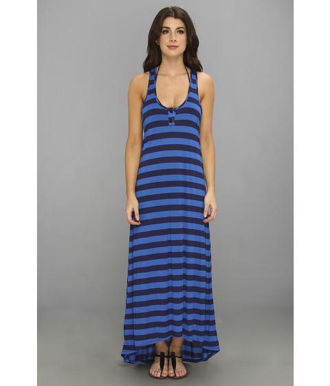 Splendid - Marcel Stripe Maxi Dress Cover-Up (Navy/Blue) Women's Swimwear