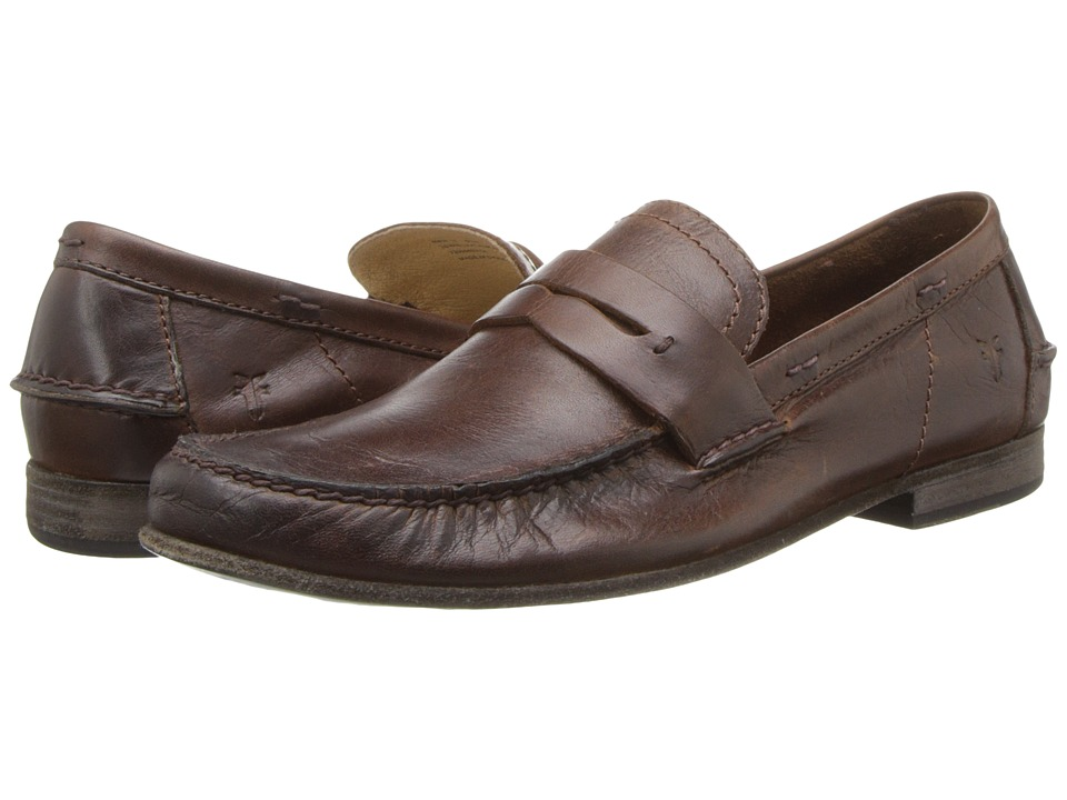 Frye - Lewis Leather Penny (Dark Brown Antique Pull Up) Men's Shoes