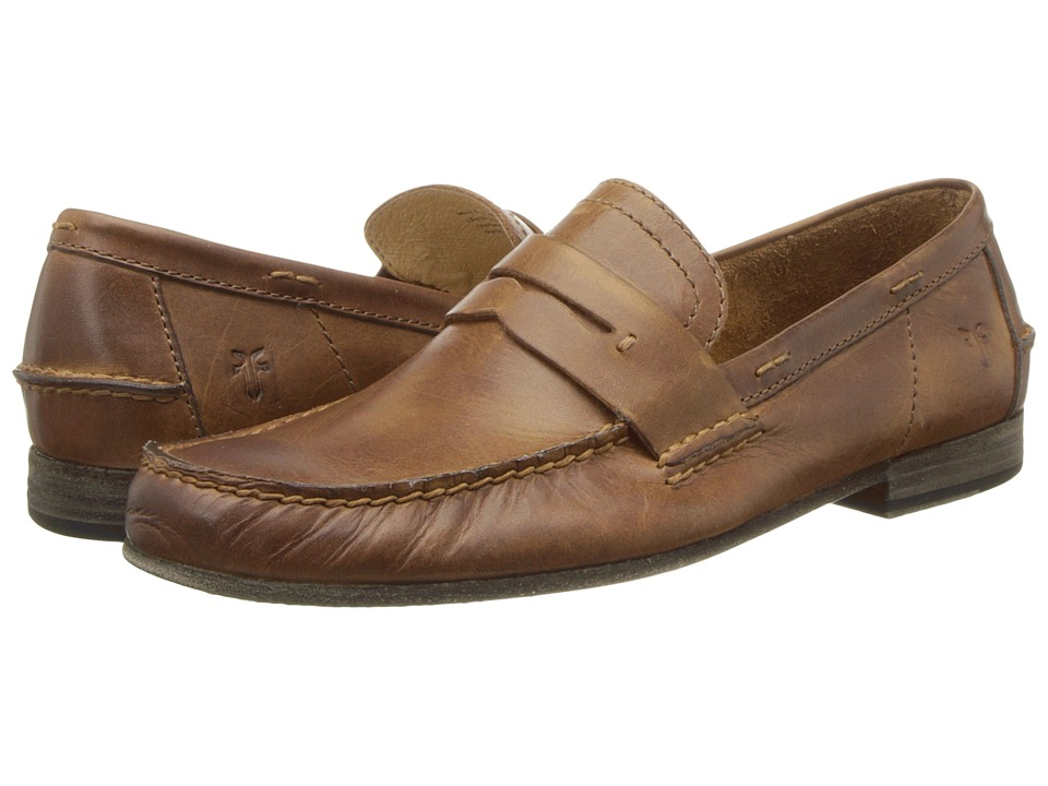 Frye - Lewis Leather Penny (Tan Antique Pull Up) Men's Shoes