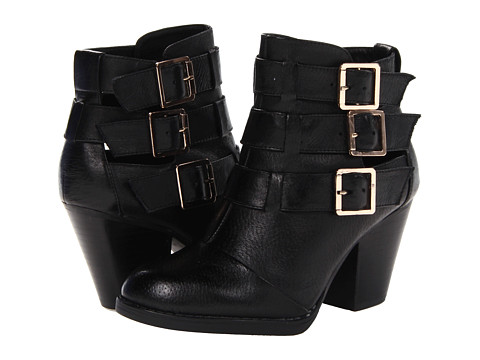 Shop Steve Madden online and buy Steve Madden Repp Black Shoes - Steve Madden - Repp (Black) - Footwear: Move forward in fiercely fashionable form! ; Supple leather upper creates a polished appearance. ; Stacked adjustable buckle closures. ; Man-made lining and lightly cushioned footbed. ; Stacked heel. ; Durable synthetic outsole. ; Imported. Measurements: ; Heel Height: 2 3 4 in ; Weight: 14 oz ; Product measurements were taken using size 7.5, width M. Please note that measurements may vary by size.