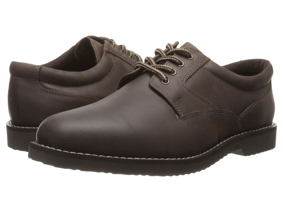 Nunn Bush Bloomington Plain Toe Oxford Lace-Up (Brown Smooth) Men
