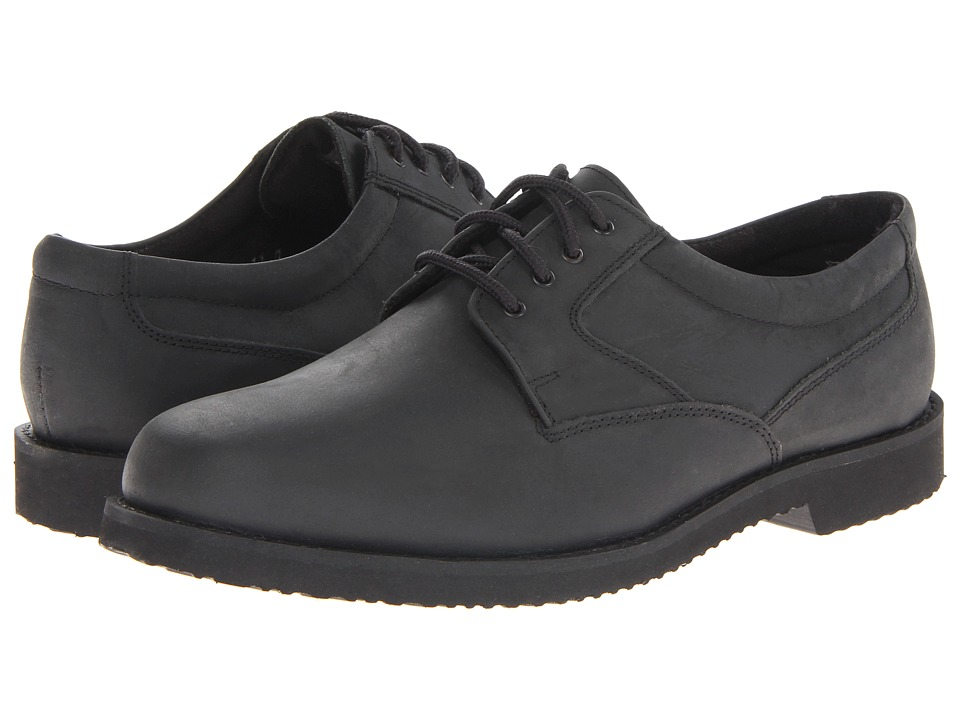 Nunn Bush - Bloomington Plain Toe Oxford Lace-Up (Black Smooth) Men's Shoes