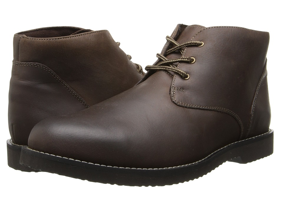 Nunn Bush Woodbury Plain Toe Casual Chukka Boot (Brown Smooth) Men
