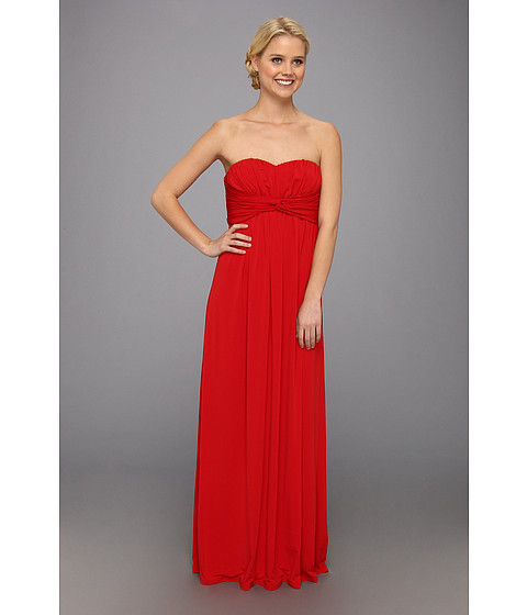 Jessica Simpson - Twist Bust Maxi Gown (Red) Women's Dress