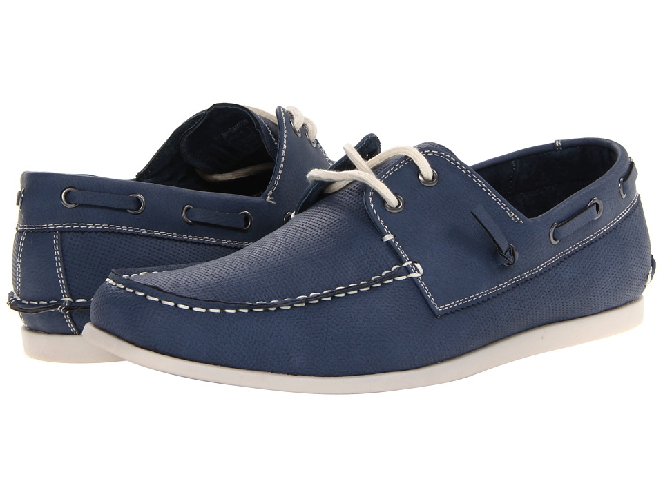 Steve Madden - Gameon (Blue Nubuck) Men's Slip on Shoes