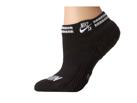 Nike SB - Elite SB Skate Low-Cut Sock (Black/White) Men