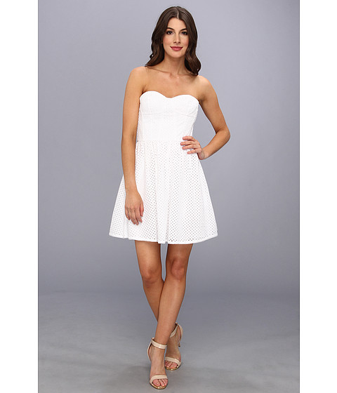 Juicy Couture - Punched Eyelet Dress (White) Women's Dress