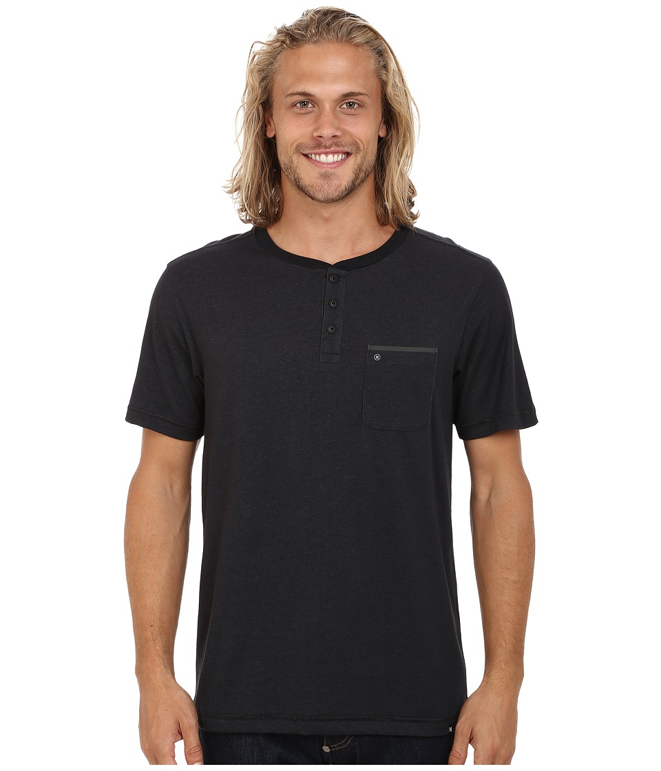 Hurley Dri-Fit S/S Knit Henley (Black) Men