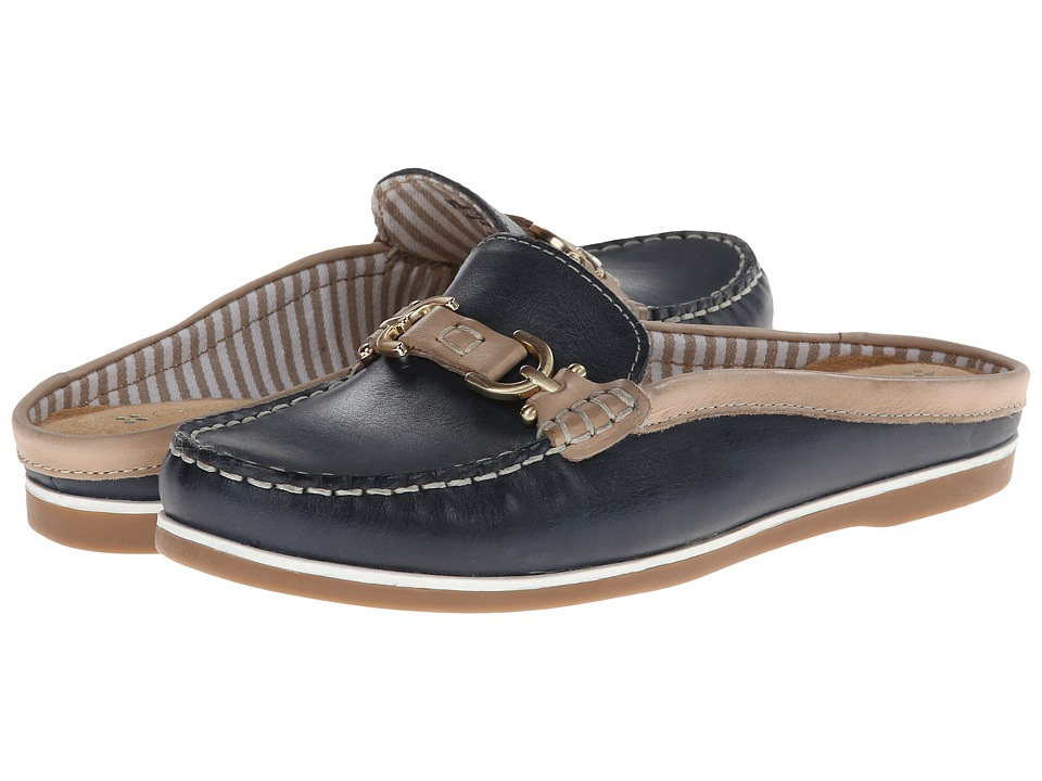 Naturalizer - Hutton (Classic Navy/Moonstone Leather) Women's Slip on Shoes