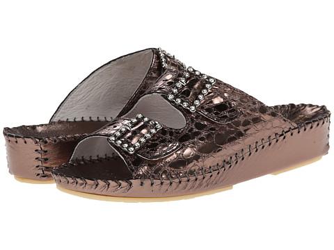 La Plume - Jen Rhinestone (Steel Rhinestone) Women's Sandals