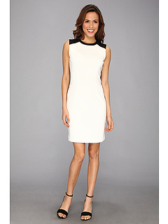 SALE! $96.99 - Save $33 on Calvin Klein Front Back Blocked Dress M3KBX961 (Winter White) Apparel - 25.10% OFF $129.50