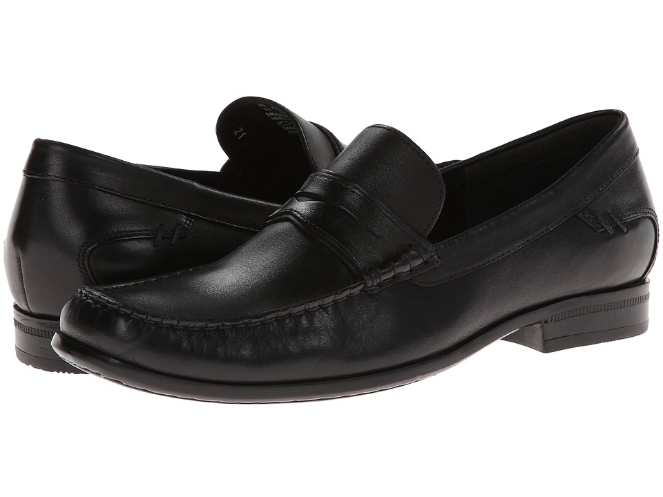 Hush Puppies - Circuit Penny MT (Black Leather) Men