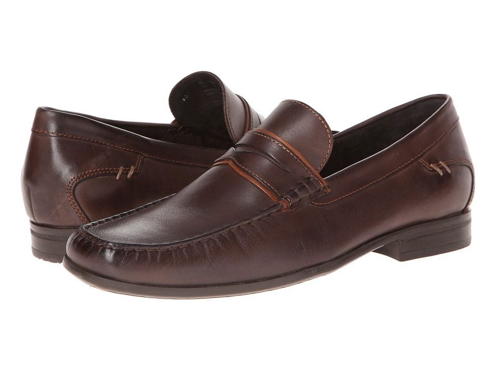 Hush Puppies - Circuit Penny MT (Dark Brown Leather) Men's Slip on Shoes