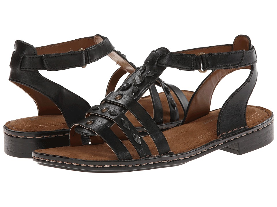 Naturalizer - Rhapsody (Black Leather) Women's Sandals