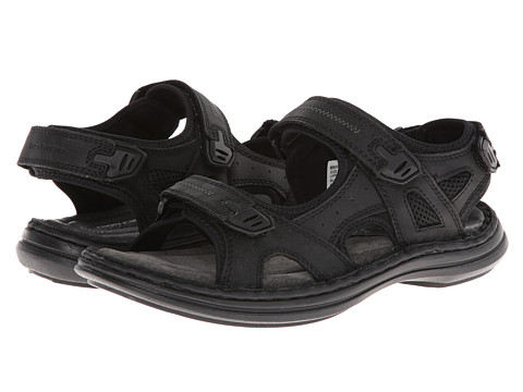 Hush Puppies - Relief Rafting (Black Waxy) Men's Sandals