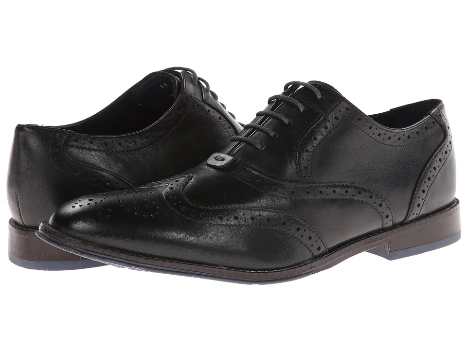 Hush Puppies - Style Brogue (Black Leather) Men's Lace Up Wing Tip Shoes