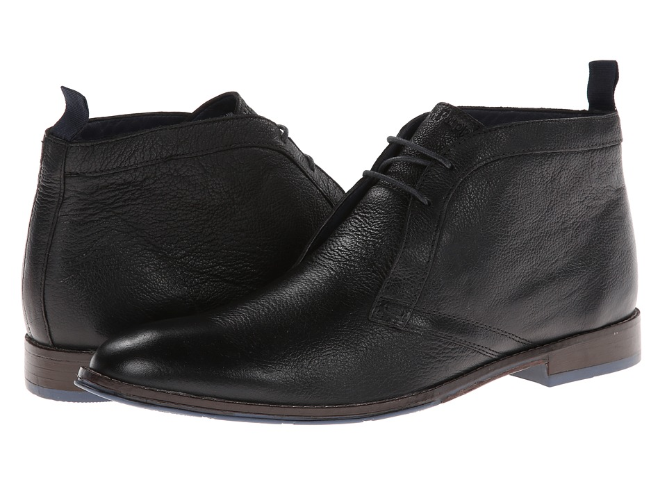 Hush Puppies - Style Chukka PL (Black Leather) Men