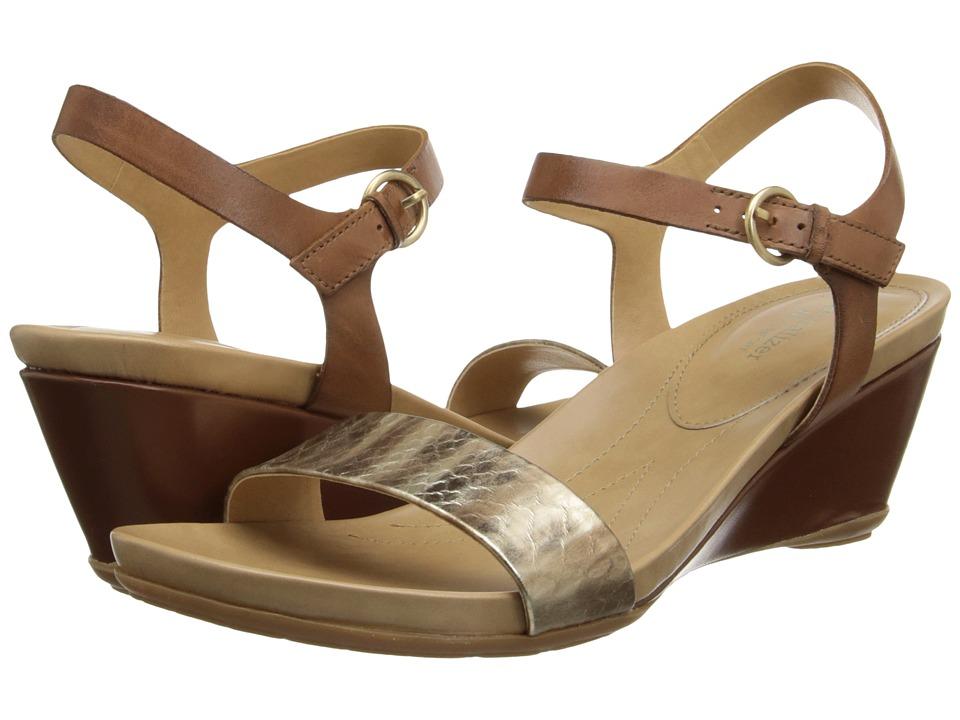 Naturalizer - Salma (Gold Printed Snake/Saddle Tan Leather) Women