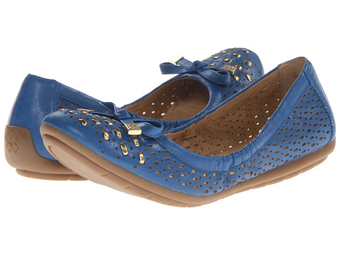 Naturalizer - Ulysses (Bright Blue/Gold Smooth) Women's Flat Shoes