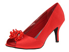 Annie - Ciel (Red Satin) - Footwear