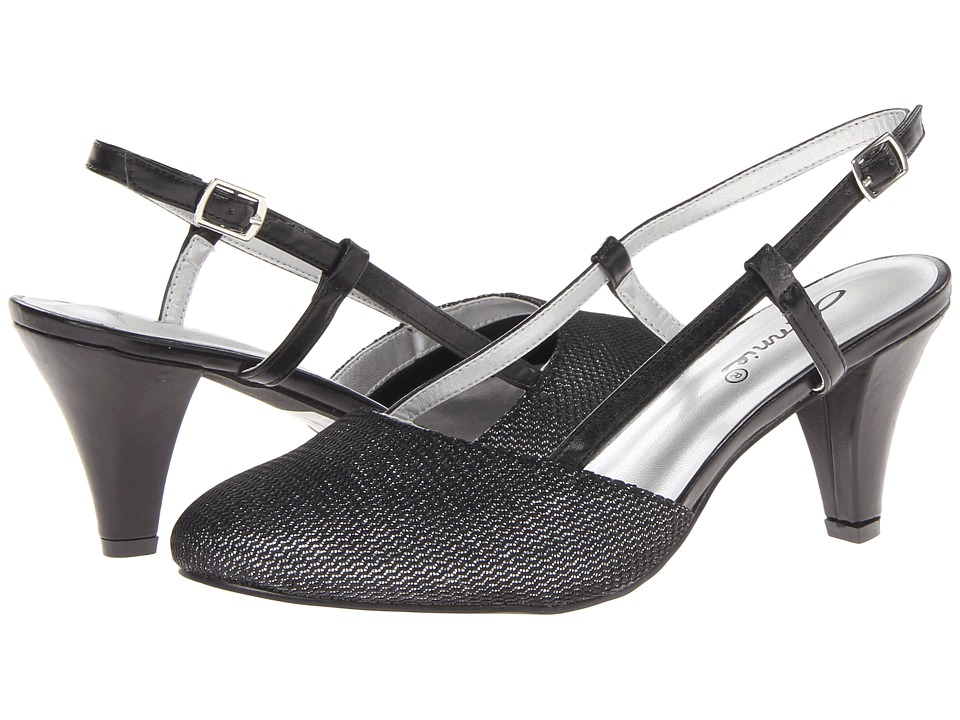 Annie - Willow (Black Metallic Mesh) Women's Shoes