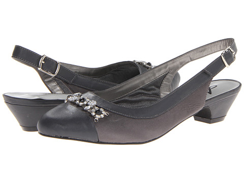 Annie - Dolores (Pewter Satin/Pewter Smooth Faille/Patent) Women
