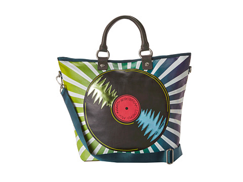 George Gina & Lucy - Carry Over Printmania (The Music Disc) Tote Handbags