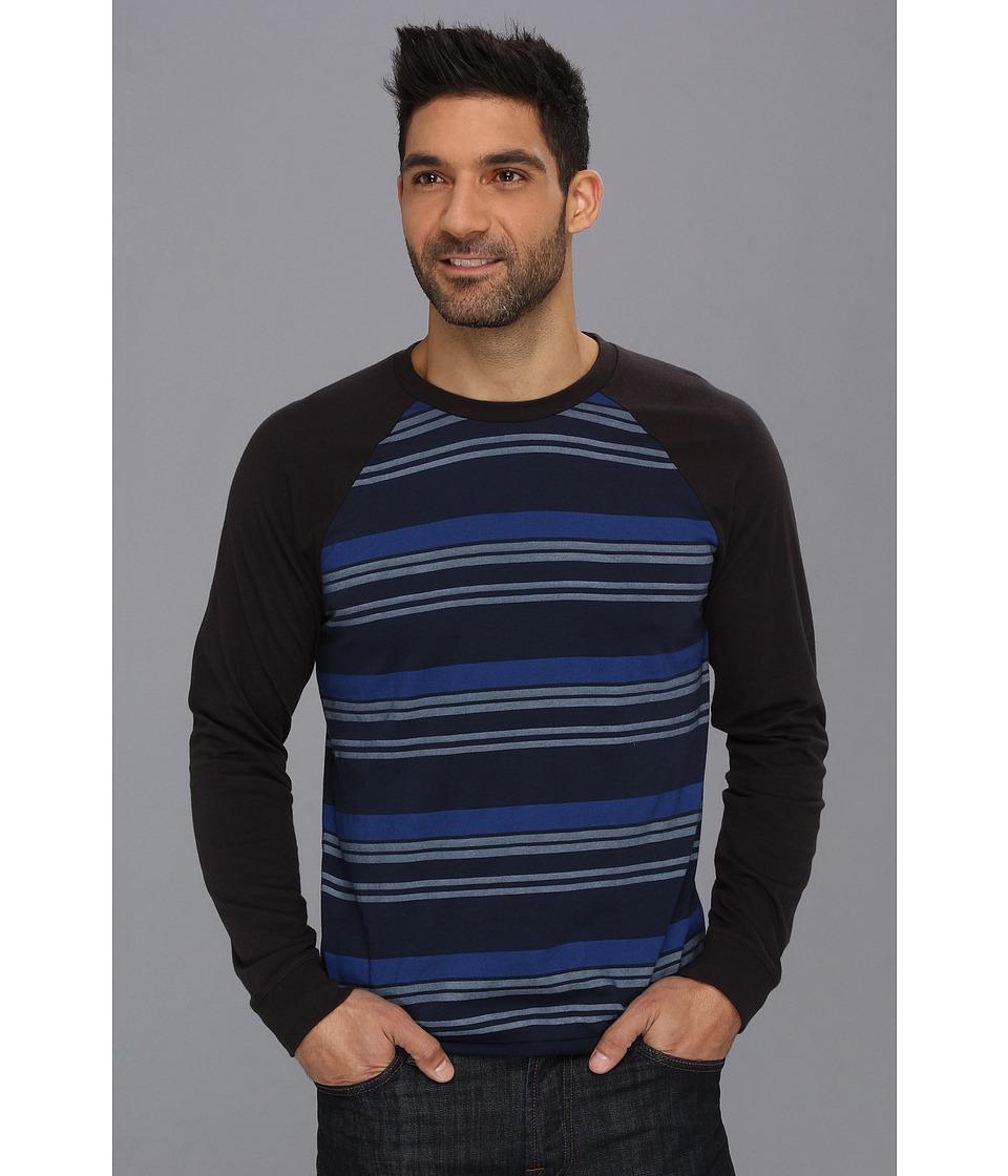 Lucky Brand Striped Raglan Tee Mens T Shirt (Navy)