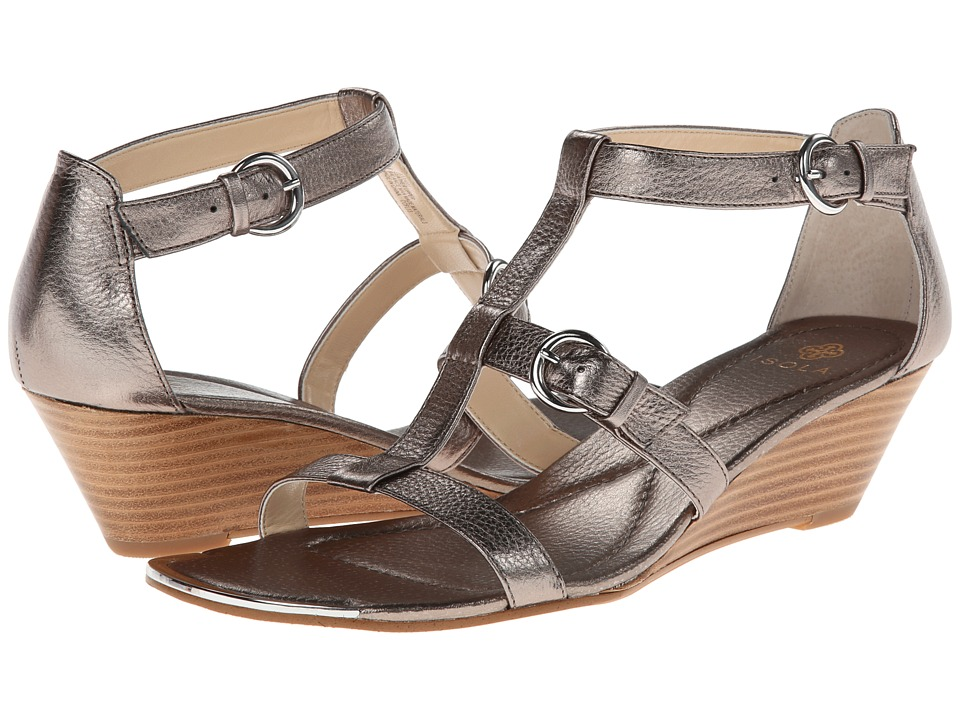 Isola - Pazia (Anthracite Cow Metallic) Women's Wedge Shoes