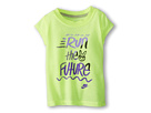 Nike Kids Run the Future Tee (Toddler) (Volt Ice) Girl's T Shirt