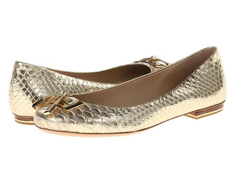 Michael Kors - Pearl (Pale Gold 18K Metallic Embossed Python) Women's Flat Shoes