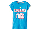 Nike Kids Dreams Are Free Tee (Little Kids) (Vivid Blue)