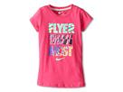 Nike Kids Flyer Than Most Tee (Little Kids) (Vivid Pink)