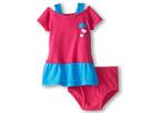 Nike Kids Heart Print Dress Set W/ Knit Bottom (Infant) (Vivid Pink)