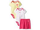 Nike Kids Heart Print Creeper Skirt Set (Infant) (Vivid Pink)