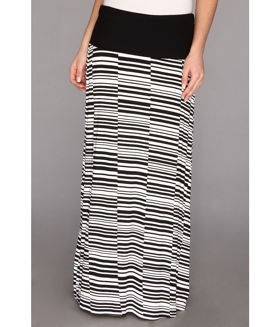 Calvin Klein - Printed Maxi Skirt M3KG6839 (Black/White) Women's Skirt