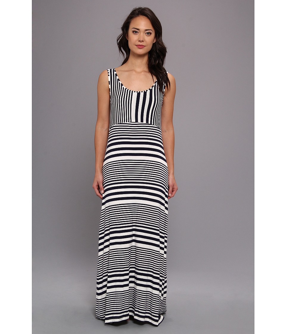 Christin Michaels - Adora Maxi Dress (True Navy Multi) Women's Dress