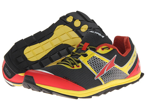 Altra Zero Drop Footwear - Superior 1.5 (Black/Lemon Chrome/Fiery Red) Men