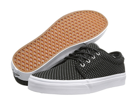 Vans - 159 Vulcanized ((Polka) Black/True White) Skate Shoes